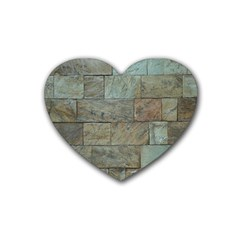Wall Stone Granite Brick Solid Heart Coaster (4 Pack)