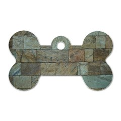 Wall Stone Granite Brick Solid Dog Tag Bone (two Sides)