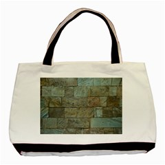 Wall Stone Granite Brick Solid Basic Tote Bag (two Sides) by Nexatart