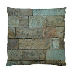Wall Stone Granite Brick Solid Standard Cushion Case (two Sides) by Nexatart
