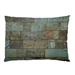 Wall Stone Granite Brick Solid Pillow Case by Nexatart