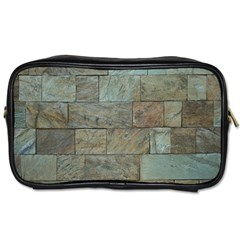 Wall Stone Granite Brick Solid Toiletries Bags 2 Side