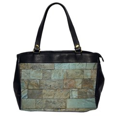 Wall Stone Granite Brick Solid Office Handbags (2 Sides)