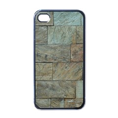 Wall Stone Granite Brick Solid Apple Iphone 4 Case (black) by Nexatart