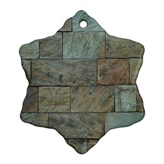 Wall Stone Granite Brick Solid Snowflake Ornament (two Sides)