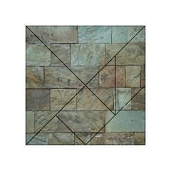 Wall Stone Granite Brick Solid Acrylic Tangram Puzzle (4  X 4 ) by Nexatart