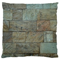 Wall Stone Granite Brick Solid Large Cushion Case (one Side) by Nexatart