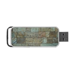 Wall Stone Granite Brick Solid Portable Usb Flash (two Sides) by Nexatart