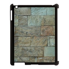 Wall Stone Granite Brick Solid Apple Ipad 3/4 Case (black)