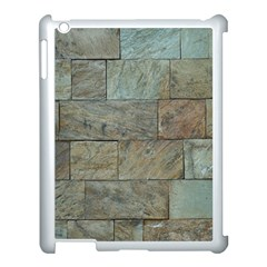 Wall Stone Granite Brick Solid Apple Ipad 3/4 Case (white)