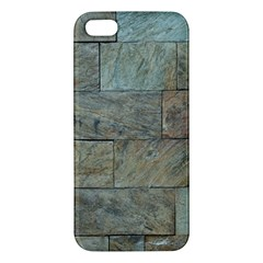 Wall Stone Granite Brick Solid Apple Iphone 5 Premium Hardshell Case