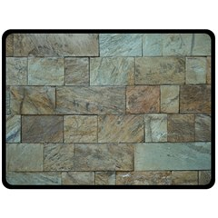 Wall Stone Granite Brick Solid Double Sided Fleece Blanket (large)