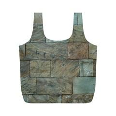 Wall Stone Granite Brick Solid Full Print Recycle Bags (m)