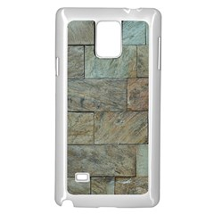Wall Stone Granite Brick Solid Samsung Galaxy Note 4 Case (white) by Nexatart