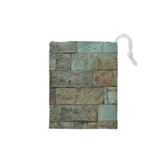 Wall Stone Granite Brick Solid Drawstring Pouches (xs)