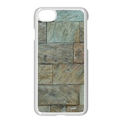 Wall Stone Granite Brick Solid Apple Iphone 8 Seamless Case (white) by Nexatart