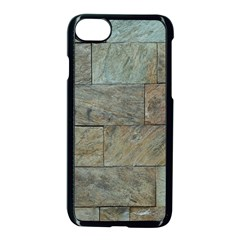 Wall Stone Granite Brick Solid Apple Iphone 8 Seamless Case (black) by Nexatart