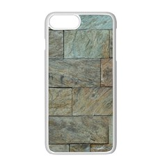 Wall Stone Granite Brick Solid Apple Iphone 8 Plus Seamless Case (white) by Nexatart