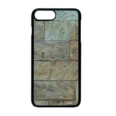 Wall Stone Granite Brick Solid Apple Iphone 8 Plus Seamless Case (black) by Nexatart