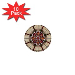 Pattern Round Abstract Geometric 1  Mini Buttons (10 Pack)