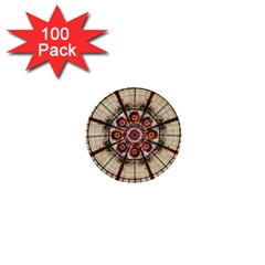 Pattern Round Abstract Geometric 1  Mini Buttons (100 Pack)