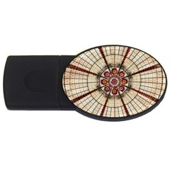 Pattern Round Abstract Geometric Usb Flash Drive Oval (4 Gb)
