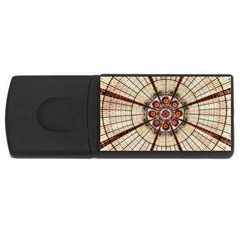 Pattern Round Abstract Geometric Rectangular Usb Flash Drive