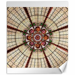 Pattern Round Abstract Geometric Canvas 20  X 24