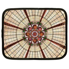 Pattern Round Abstract Geometric Netbook Case (xxl)