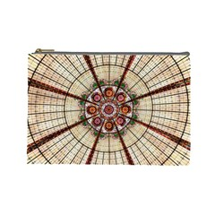 Pattern Round Abstract Geometric Cosmetic Bag (large)