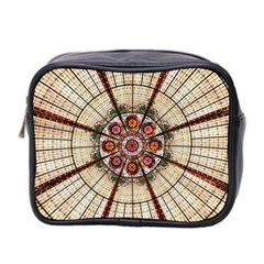 Pattern Round Abstract Geometric Mini Toiletries Bag 2 Side