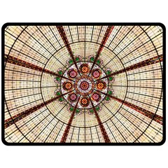 Pattern Round Abstract Geometric Fleece Blanket (large)