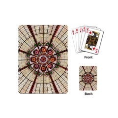 Pattern Round Abstract Geometric Playing Cards (mini)