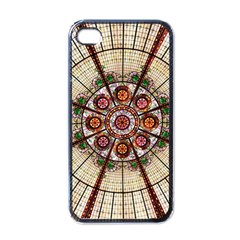 Pattern Round Abstract Geometric Apple Iphone 4 Case (black)