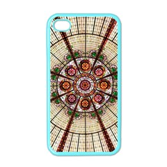 Pattern Round Abstract Geometric Apple Iphone 4 Case (color)