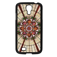 Pattern Round Abstract Geometric Samsung Galaxy S4 I9500/ I9505 Case (black)