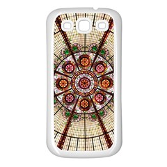 Pattern Round Abstract Geometric Samsung Galaxy S3 Back Case (white)