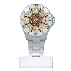 Pattern Round Abstract Geometric Plastic Nurses Watch