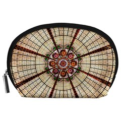 Pattern Round Abstract Geometric Accessory Pouches (large)