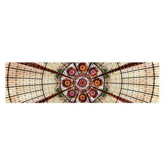 Pattern Round Abstract Geometric Satin Scarf (oblong)