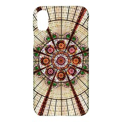 Pattern Round Abstract Geometric Apple Iphone X Hardshell Case by Nexatart