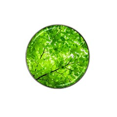Green Wood The Leaves Twig Leaf Texture Hat Clip Ball Marker