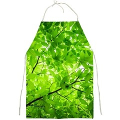 Green Wood The Leaves Twig Leaf Texture Full Print Aprons