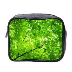 Green Wood The Leaves Twig Leaf Texture Mini Toiletries Bag 2 Side