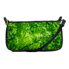 Green Wood The Leaves Twig Leaf Texture Shoulder Clutch Bags