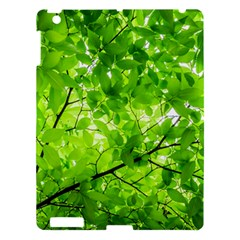 Green Wood The Leaves Twig Leaf Texture Apple Ipad 3/4 Hardshell Case by Nexatart