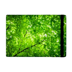 Green Wood The Leaves Twig Leaf Texture Apple Ipad Mini Flip Case
