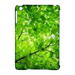 Green Wood The Leaves Twig Leaf Texture Apple Ipad Mini Hardshell Case (compatible With Smart Cover)