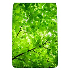 Green Wood The Leaves Twig Leaf Texture Flap Covers (l)