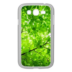 Green Wood The Leaves Twig Leaf Texture Samsung Galaxy Grand Duos I9082 Case (white)